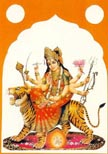1024 Durga Seated on Tiger