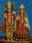 3008 Rama and Sita Standing, color