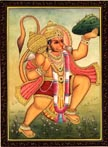 3826 Hanuman Standing Holding Herb Mountain, color