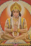 3829 Hanuman Sitting in Devotion, color