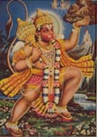 3830 Hanuman Standing Lifting Ayurvedic Herbal Mountain, color