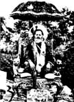 5513 Swami Brahmananda Saraswati Seated under Canopy, B-W